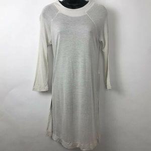 Zara Collection White Tunic Sweater Dress Sz M New